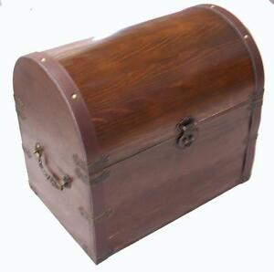Large Wooden Treasure Chest Storage Box Novelty Old Looking S 301 Dentist Prizes