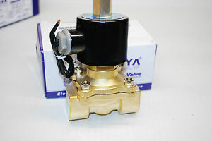 Electric Solenoid Valve Water Air N o 110v Ac 3 4 Normally Open Type A409