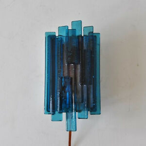 Blue Mod 1960s Light Wall Sconce Vintage Original