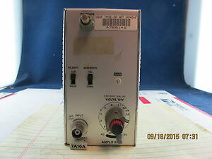 Tektronix 7a16a Amplifier Tested And Working Military Surplus