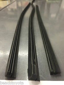 09 16 Venza Front And Rear Windshield Wiper Blade Inserts New Genuine Toyota Oem
