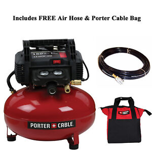 Porter Cable C2002 150 Psi 6 Gallon Oil Free Portable Pancake Air Compressor