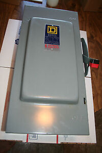 Sq D Square D 100 Amp Disconnect Safety Switch H223n 240 Vac