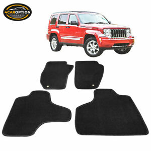 Fits 08 13 Jeep Liberty 4dr Floor Mats Carpet Front Rear Nylon Black 4pc