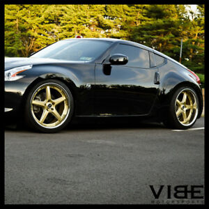 20 Vertini Drift Gold Five Star Wheels Rims Fits Nissan 370z