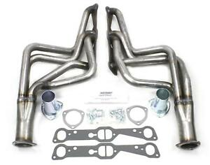 Patriot Exhaust Headers Full length Steel Natural Pontiac 326 455 Pair H8301