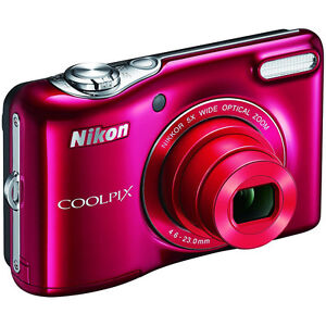 Nikon COOLPIX L32 20.1MP 720P HD Video Digital Camera - Red REFURBISHED