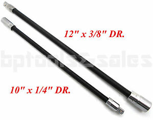 2pc Flexible Socket Extension 10 Long 1 4 12 Long 3 8 Socket Bar Ratchet
