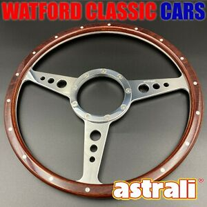 Astrali Classic Wood 14 Inch Steering Wheel Compatible With Moto Lita Boss
