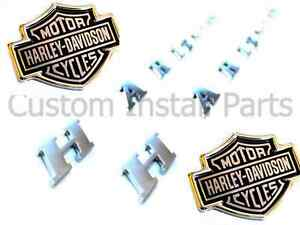 Ford F150 Harley Davidson Bed Side Letters Emblem Pair Headrest Push Pin Decal