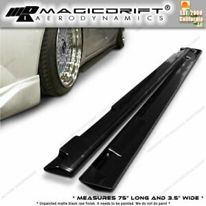 For 12 15 Honda Civic 4dr Sedan Jdm Add on Side Skirts Extensions Extension Lip