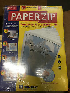 9 Paper Zip Complete Presentation Kit E1102e 60 Sheets 9 Sets Covers 8 5 X 11