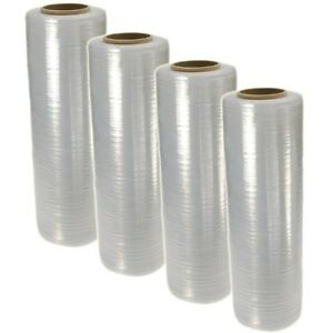 18 X 1500ft 100 Gauge Pallet Wrap Stretch Film Shrink Hand Wrap 1500 4 Rolls