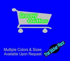 Grocery Getter Wagon Vinyl Decal Sticker Vinyl Decal Turbo Drift Lowered