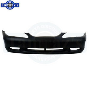 94 98 Ford Mustang Front Bumper Cover Facia Nose W Fog Lamp Holes