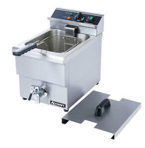 Adcraft Df 12l Single Tank Deep Fryer With Faucet