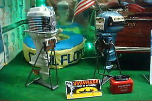 6 new looking steel toy outboard