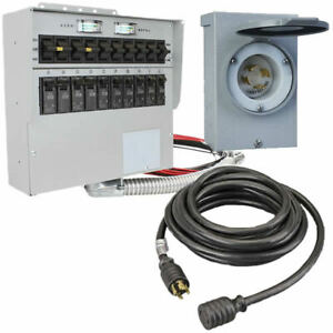 Reliance Controls 30 amp 120 240v 10 circuit Power Transfer System W Inter