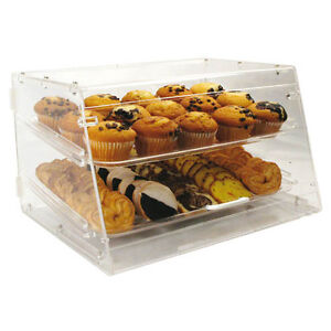 Winco Adc 2 21x18x12 inch Clear Acrylic Countertop Display Case With 2 Trays