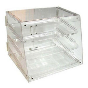Winco Adc 3 21x18x16 5 inch Clear Acrylic Countertop Display Case With 3 Trays