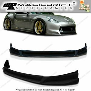 Sl Style Front Lip Poly Urethane Chin Spoiler Fits 09 10 11 12 Nissan 370z
