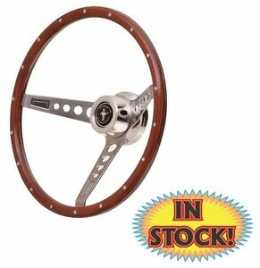 Gt Performance Retro Mustang 15 Wood Steering Wheel 35 5457