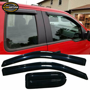 For 04 14 Ford F150 Supercab Extended Cab Acrylic Window Visors 4pc Set