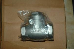 Sharpe 20276 1 316 Stainless Steel Swing Check Valve Threaded Fitting 200 Nos