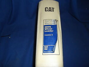 Cat Caterpillar 980g Wheel Loader Service Shop Repair Book Manual 9cm 2kr 2sr V2