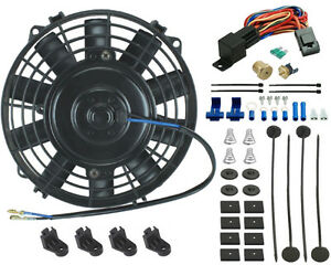 8 Inch Electric Fan Radiator Cooling 3 8 Thermostat Switch Atv Mower Go kart