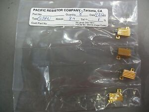 Lot Of 4 Pacific Resistor Co 5chn Resistor 5w 8ohm New