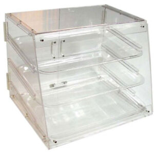 Update International Acrylic Display Case 3 Tray Rear Doors