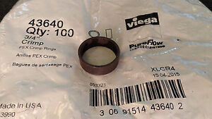 Viega 43640 Pureflow 3 4 Pex Crimp Ring 1 Bag 100 Pcs Xlcr4
