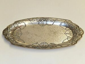 Antique Vintage Lady Claire Silverplate 8 Ornate Vanity Tray Model C235