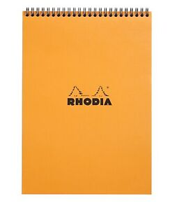 Rhodia Wirebound Notebook 8 1 4 X 11 3 4 Graph Orange