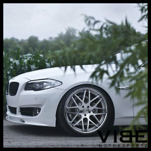 19 Vertini Magic Silver Concave Staggered Wheels Rims Fits Bmw E46 M3