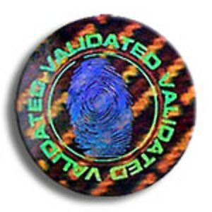500 Security Fingerprint Hologram Warranty Void Label Tamper Evident Seals
