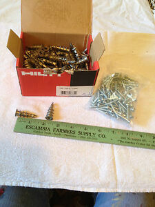 Qty 100 Hilti Drywall Anchor Hsp s With Screws 1 9 16 332683