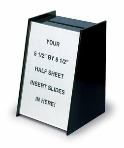 Lot Of 6 Small Black Acrylic Ballot Suggestion Box With Sign Holder
