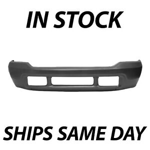 New Primered Gray Steel Front Bumper Face Bar For 1999 2004 F250 F350 Super Duty