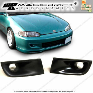 For 92 95 Jdm Honda Civic Eg Front Bumper Scoop Brake Cold Air Duct Vent Cai