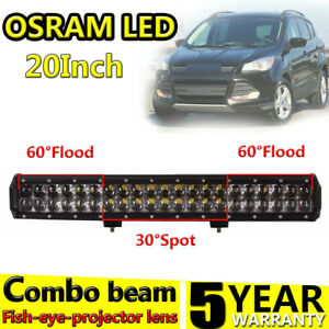20inch 210w Osram Led Work Light Bar Spot Flood Combo Beam Off Road Driving Lamp