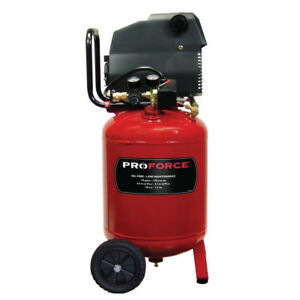 Proforce Vlf1581019 10 gallon Portable Oil free Air Compressor W Value Kit New