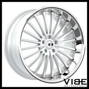 20 Xo New York Silver Concave Wheels Rims Fits Ford Mustang Gt Gt500