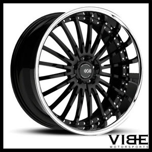 20 Xo New York Black Concave Wheels Rims Fits Audi D3 A8 Quattro