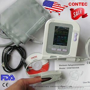 Digital Blood Pressure Monitor electronic Sphygmomanometer nibp spo2 Probe usa