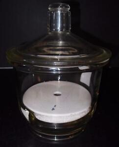 Thick Borosilicate Glass Desiccator 8 With Desiccant 869