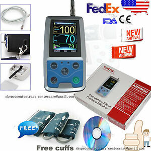 Us Contec Ambulatory Blood Pressure Monitor usb Software 24h Nibp Holter 3 Cuffs