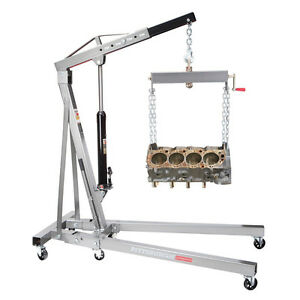 1 Ton Engine Motor Hoist Cherry Picker Shop Crane Lift Foldable New Free Fedex