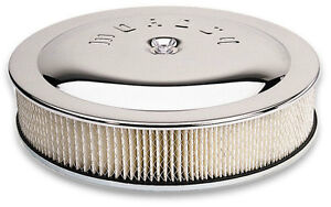 Moroso 65946 14 x 5 Chrome Air Cleaner 7 5 16 Dia Neck